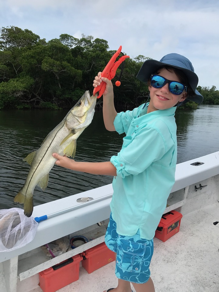 First Snook caught Sanibel Florida